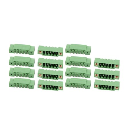 15 Pcs LZ1VM AC300V 8A 3 5mm Pitch 5P PCB Mount Terminal Block Wire  Connector