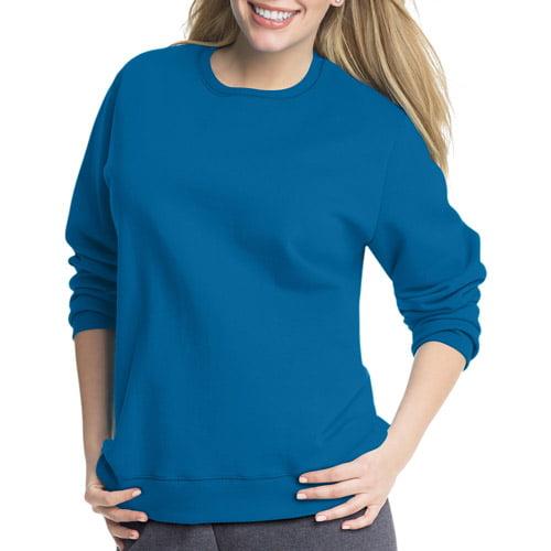 Just My Size Women's Plus-Size Fleece Crew Sweatshirt