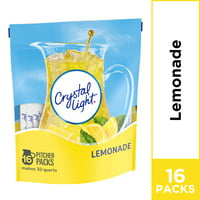 Crystal Light Lemonade Powdered Drink Mix, Caffeine Free, 8.6 oz Pouch