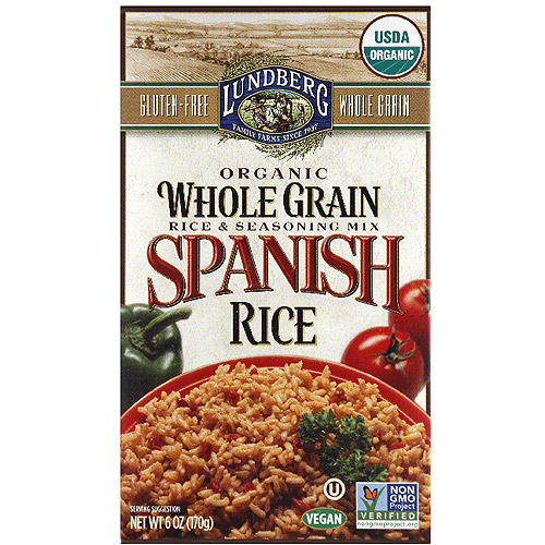 Lundberg Family Farms Whole Grain Spanish Rice & Seasoning Mix, 6 oz, (Pack of 6)
