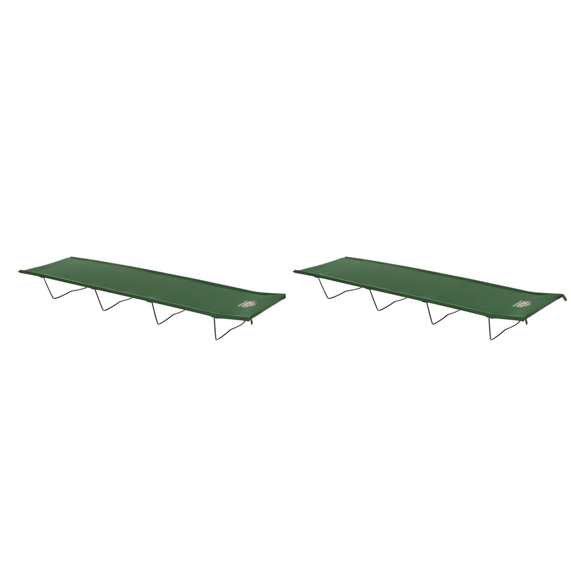 Kamp Rite Indoor or Outdoor Compact Collapsible Camping Economy Cot (2 Pack) by Kamp-Rite