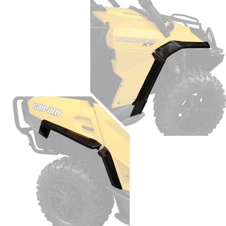 Can-Am New OEM Commander Mud Guard Fender Extension Flair MudGuard Extender Kit (Commander Kit)