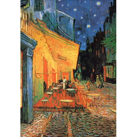 Cafe Terrace at Night Art Print By Vincent van Gogh -