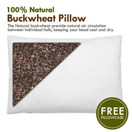 Natural Premium Buckwheat Sobakawa Pillow Buckwheat Hull Standard Pillow