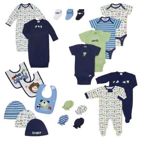 Gerber Newborn Baby Boy Perfect Baby Shower Gift Layette Set, 21-Piece
