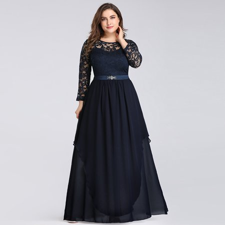 Ever-Pretty Women Full Length Lace Plus Size Mother of the Bride Evening Dresses for Women 07716