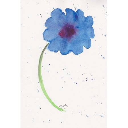 Blue Poppy 1 Poster Print by Beverly Dyer (10 x 14)