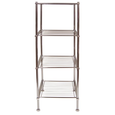 new concept fadbb 3bc20 Organize It All 4 Tier Chrome Freestanding Metro Bathroom Storage Shelf