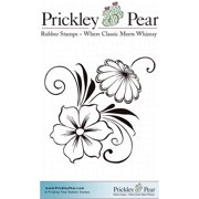 "Prickley Pear Cling Stamps 2.25""X2""-Flower Swag"