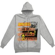 Sublime Men's  1988 Logo Zippered Hooded Sweatshirt Grey