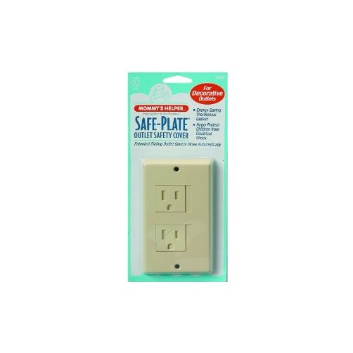 Mommys Helper Safe Plate Electrical Outlet Covers Decora, Almond Multi-Colored