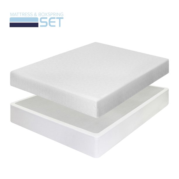 Best Price Mattress 7 Inch Gel Memory Foam Mattress and New Innovative Box Spring Set