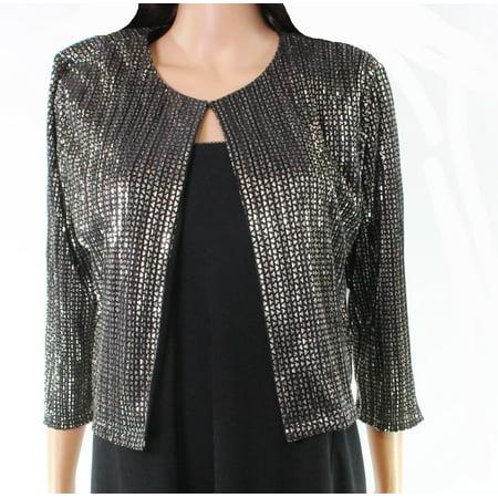 Jessica Petite Coat - Jessica Howard Womens Petite Metallic Pleated Jacket