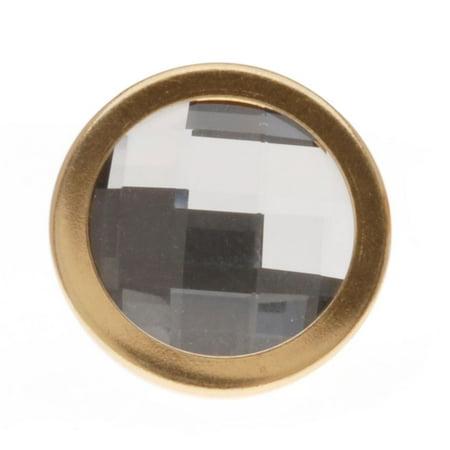 Swarovski Crystal Buttons (SWAROVSKI ELEMENTS Gold Plated Chessboard Crystal Jean Button 17mm (1 Set))