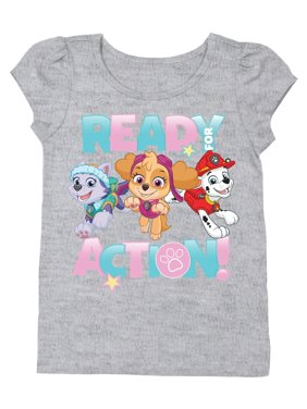 """""""Ready for Action"""" Short Sleeve Graphic Tshirt (Toddler Girls)"""