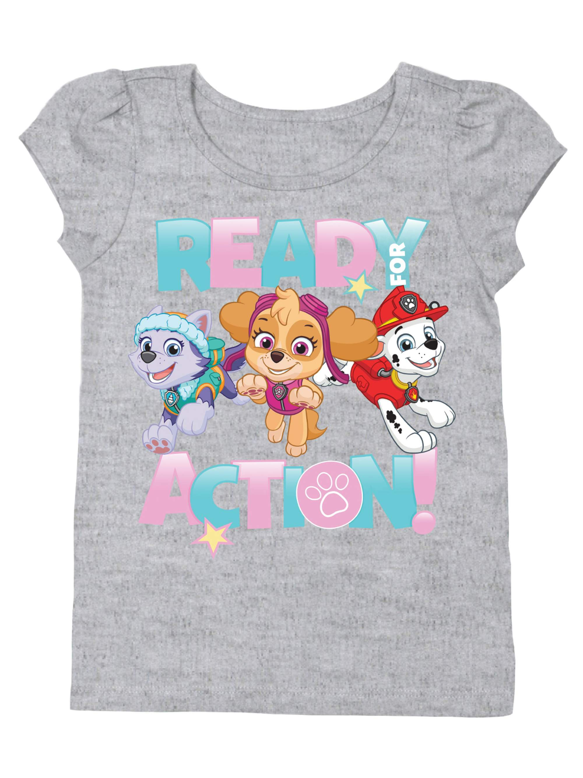 """Ready for Action"" Short Sleeve Graphic Tshirt (Toddler Girls)"