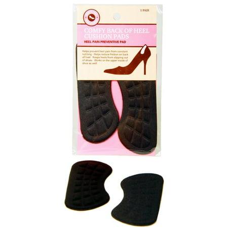 SWE Inc Black Shoe Cushion Pads for Back of Heel (Set of 6)