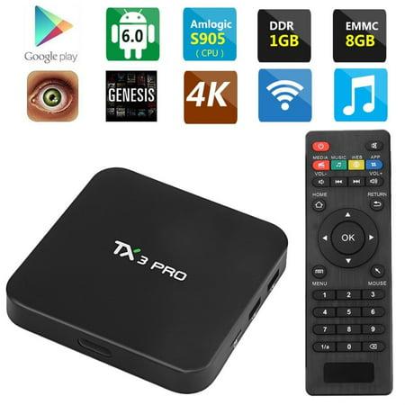 International Group Tx3pro Android 6 0 Tv Box Amlogic S905x Quad Core 64Bit 1G 8G   16 1 Uhd 4K 2 4G Wifi Media Player