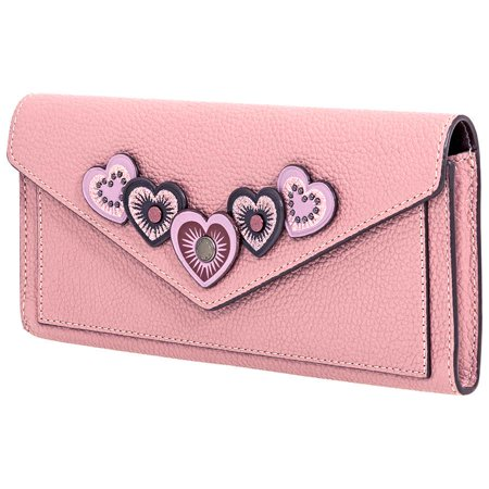 Coach Ladies Continental Wallet Leather Dusty Pink Hrt (Best Workout Coach App)