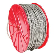 Campbell Chain  Stainless Steel  Cable  3/32 in. Dia. x 250 ft. L
