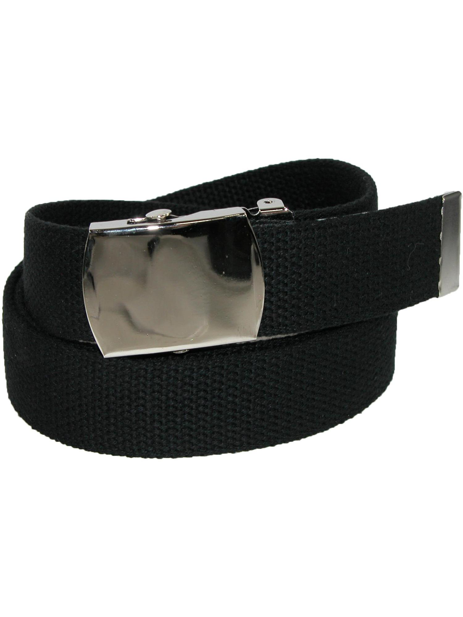 Size one size Big & Tall Cotton Belt with Nickel Finish Buckle (Pack of 3)