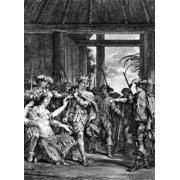 Capture Of Atahualpa 1532 Nthe Capture Of Atahualpa The Last Incan King By Francisco Pizarro And His Army At Cajamarca Peru 1532 Line Engraving French Late 18Th Or Early 19Th Century Poster Print by G