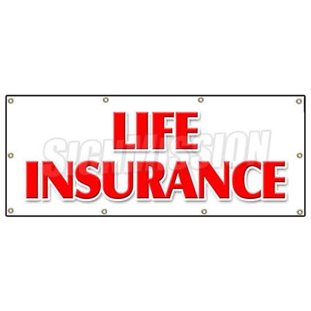 36  X96   Life Insurance Banner Sign Financial Income Quotes Terms Servicews