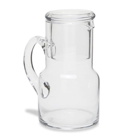 Badash Long Island 10 oz. Glass Bedside Carafe (Bedside Glass And Pitcher)