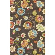 Alexander Home Hand-hooked Peony Brown Rug (3'6 x 5'6)