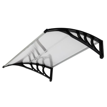 Ktaxon DIY Window Front Door Awning Canopy Patio Rain Cover Yard Garden Black,40