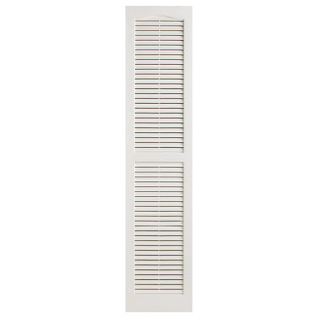 """Image of Alpha Shutters Exterior 14"""" x 55"""" Louvered Shutter (Set of 2)"""