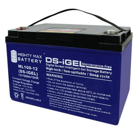 12V 100AH GEL Battery Replacement for Kota Trolling Motor PowerCenter