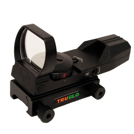 TruGlo Dual-Color Open Red Dot Sight, Red & Green 5 MOA Dot Reticle - (Best Ar Open Sights)