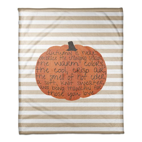 The Holiday Aisle Embrace Autumn Coral Fleece Throw