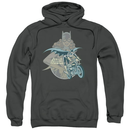 DC Comics Batgirl Biker Mens Pullover Hoodie (Batgirl Hoodie)