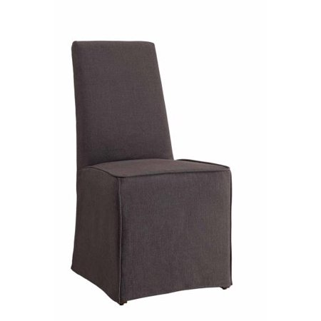 - Simple Relax 1PerfectChoice Galloway Set Of 2 Dining Side Skirt Chairs Covered Grey Fabric Upholstered Seat