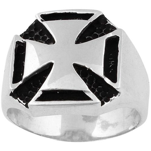 Sterling Silver Templar Iron Cross Ring 17