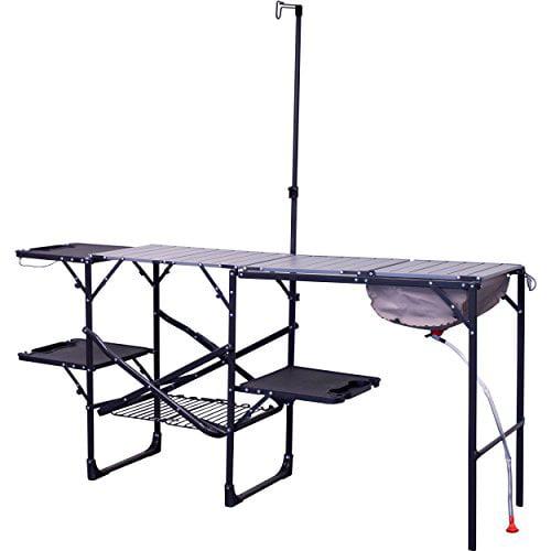 Gci Outdoor Master Cook Portable Folding Camp Kitchen Black Walmart Com Walmart Com