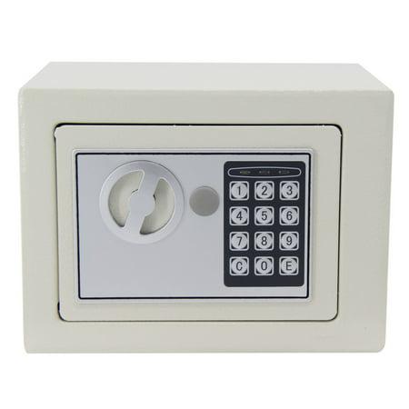 170*230*170mm Digital Keypad Safe Box Money Jewelry Document Gun Storage Organizer Home Office Use White thumbnail