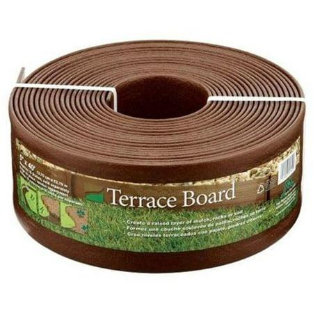 Terrace Board - Master Mark Plastics 95341 5 in. Brown Terrace Board 40 ft.