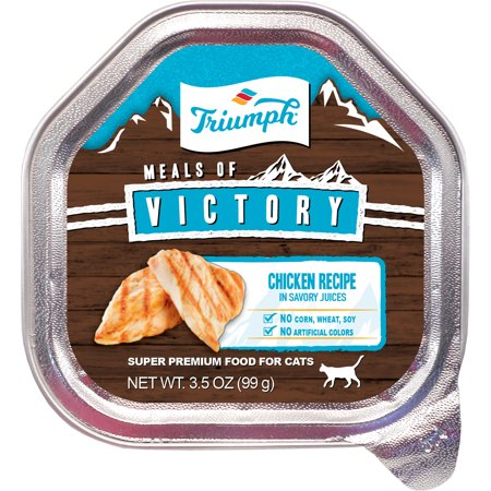 Triumph Pet Industries-Triumph Victory Wet Cup Cat Food- Chicken 3.5 Oz (Case of 15 (The Best Cat Food For My Cat)