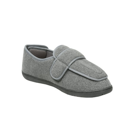 Men's Foamtreads Extra-Depth Wool Slippers - For Sensitive Swollen Feet - Gray](Bearpaw Slippers On Sale)