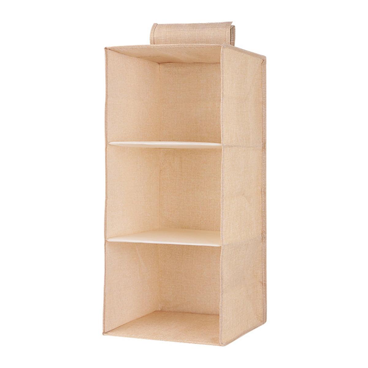 Belts or Bags Hanger Organizador de Armario de 3-5 Niveles Estanter/ía Colgante de Tela Clothes Closet Estante de Tela para Armario- 3Niveles Hanging Bedroom Shelving