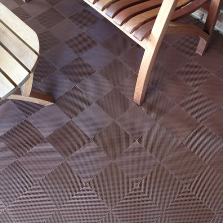 BlockTile Deck and Patio Flooring Interlocking Perforated Tiles, Set of 30