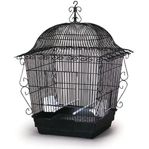 """Jumbo Tiel Scrollwork Bird Cage - Black, 18""""x18""""x25"""""""
