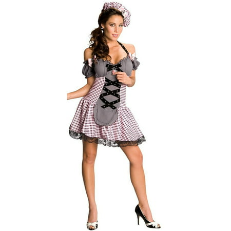 Women's Deluxe  Little Bo Peep Adult Costume - Little Bo Peep Makeup