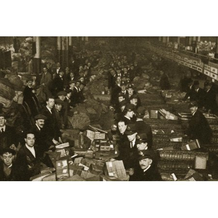 Sorting parcels at the Post Office, Mount Pleasant, London, 20th century Print Wall