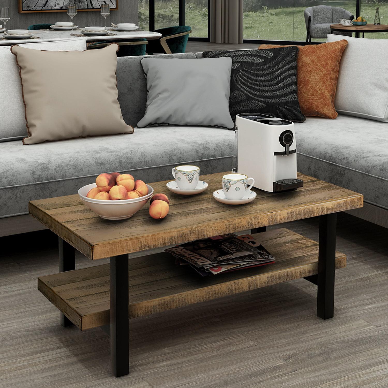 coffee table segmart highgrade mdf solid wood farmhouse
