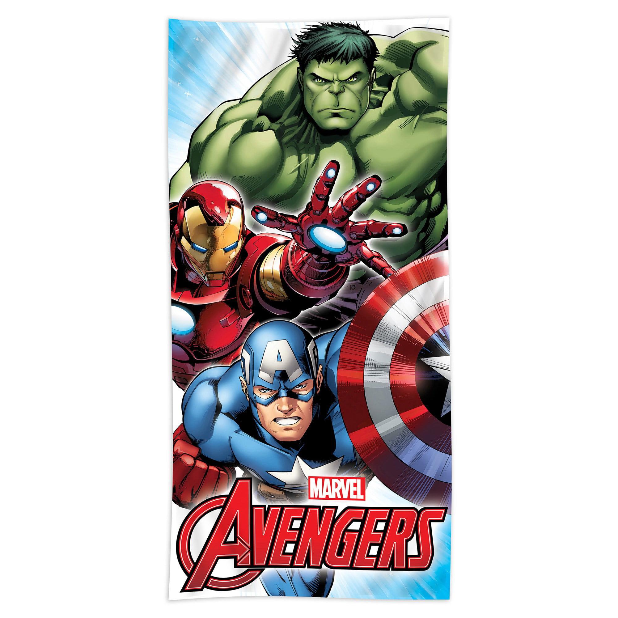 Marvel S Mighty Avengers 100 Cotton Beach Towel Walmart Com Walmart Com