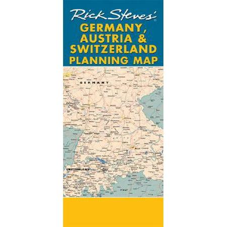 Map Of Germany Austria And Switzerland.Rick Steves Germany Austria Switzerland Planning Map Including Berlin Munich Salzburg Vienn 9781598800524